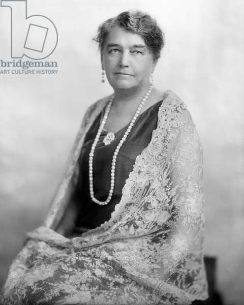 JOSEPHINE DIEBITSCH PEARY (1863-1955). American Arctic explorer and author, wife of Robert E. Peary. Photograph, c.1940.