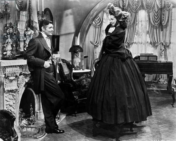 GONE WITH THE WIND, 1939 Clark Gable as Rhett Butler and Vivien Leigh as Scarlett O'Hara in the film adaptation, 1939, of Margaret Mitchell's novel.