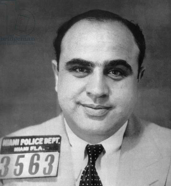 ALPHONSE CAPONE (1899-1947) American gangster. Photographed after having been arrested in Miami, Florida, c.1930.