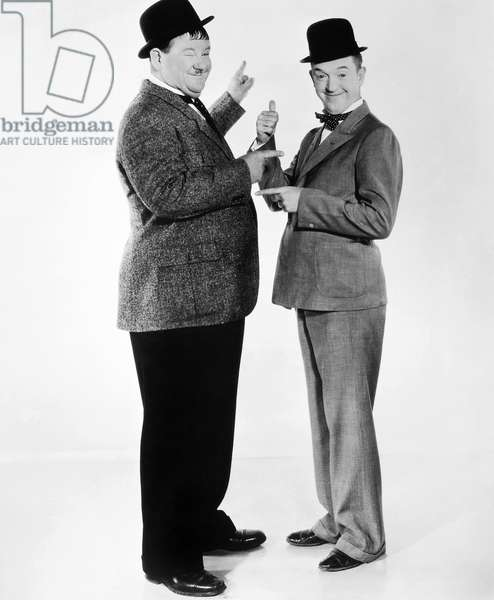 LAUREL AND HARDY Stan Laurel (right) and Oliver Hardy.