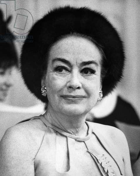 JOAN CRAWFORD (1908-1973) American actress. Photograph, 1970.