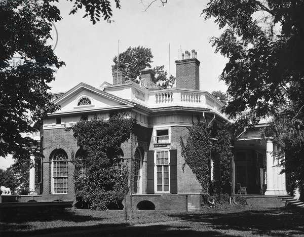 JEFFERSON: MONTICELLO The home of Thomas Jefferson, near Charlottesville, Virginia.