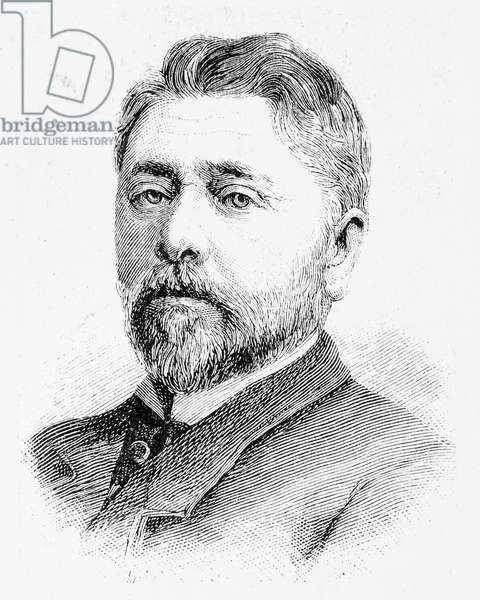 ALEXANDRE GUSTAVE EIFFEL (1832-1923). French engineer. Line engraving, German, 1889.