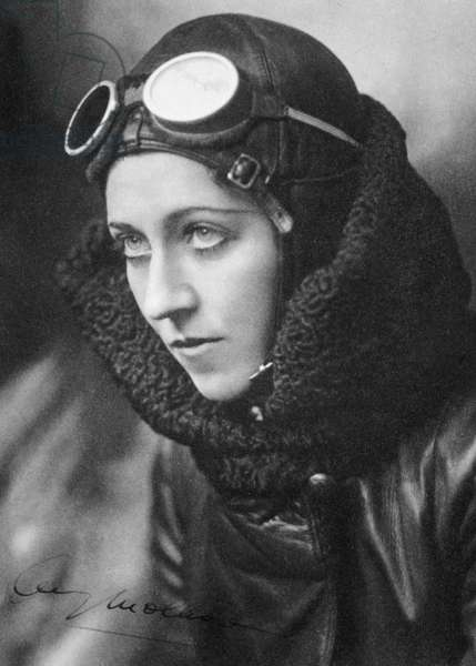 AMY JOHNSON (1903-1941) English aviator. Photographed c.1934.