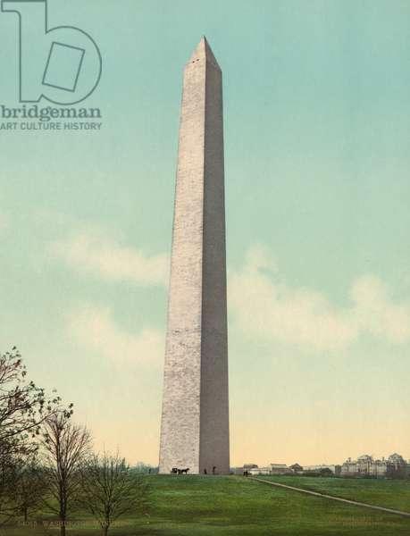 WASHINGTON MONUMENT, c.1903 The Washington Monument in Washington, D.C. Photochrome, c.1903.
