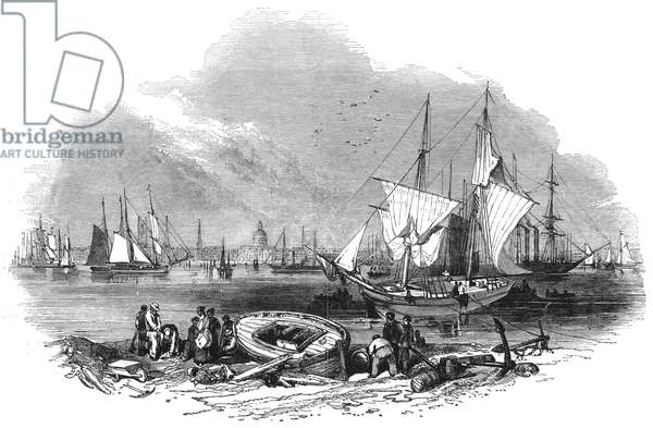 NEW ORLEANS HARBOR, 1847 A view of the harbor in New Orleans, Louisiana. Wood engraving, 1847.
