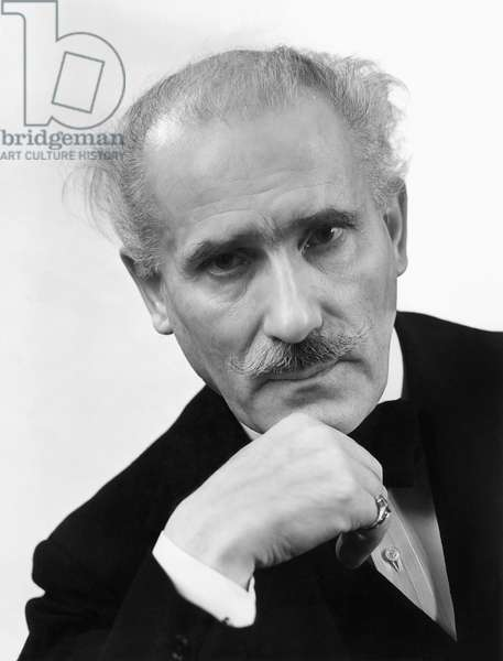 ARTURO TOSCANINI (1867-1957) Italian orchestral conductor; photographed in 1938.