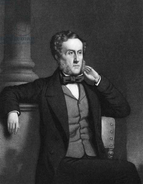 EARL OF SHAFTESBURY (1801-1885). 7th Earl of Shaftesbury, Anthony Ashley Cooper. English philanthropist and statesman. Mezzotint, American, 1858.