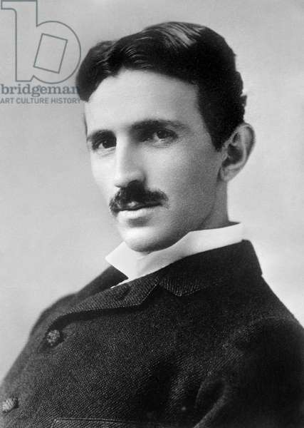 NIKOLA TESLA (1856-1943) American electrician and inventor. Born in Croatia, of Serbian parents. Photograph, 1890s.