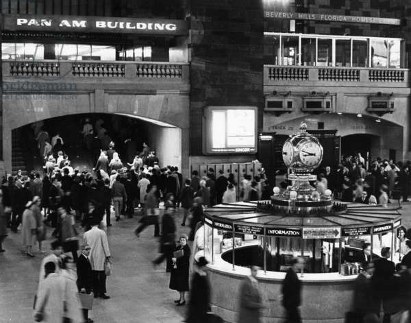 GRAND CENTRAL, c.1964 An interior view of Grand Central Station in New York City. Photograph, c.1964.