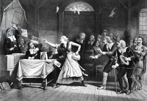 SALEM WITCH TRIAL, 1692. A witch trial at Salem, Massachusetts, in 1692. Lithograph, American, 1892.