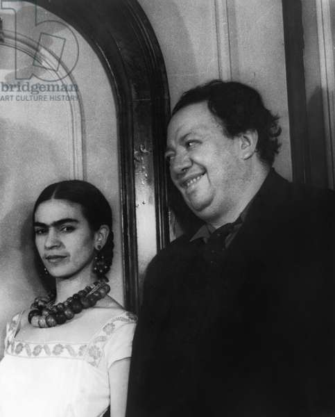 KAHLO & RIVERA, 1932 Mexican painters Frida Kahlo and Diego Rivera. Photographed by Carl Van Vechten, 1932.