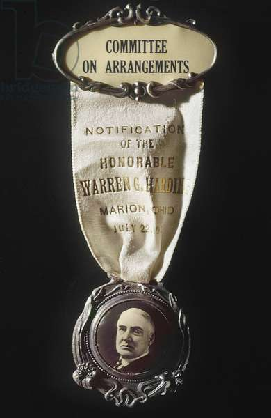 WARREN HARDING (1865-1923) Medal commemorating Warren G. Harding's presidential nomination by the Republican party, 1920.