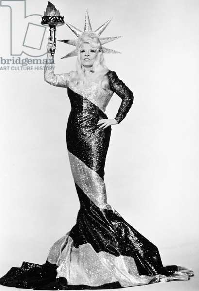 MAE WEST (1892-1980). American actress. West in a still from the film 'Myra Breckenridge,' 1970.