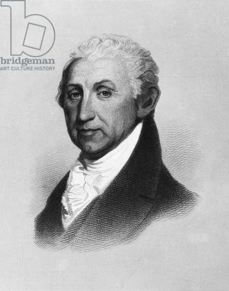 JAMES MONROE (1758-1831) Fifth President of the United States. Line and stipple engraving by H.W. Smith after a painting by Gilbert Stuart, early 19th century.