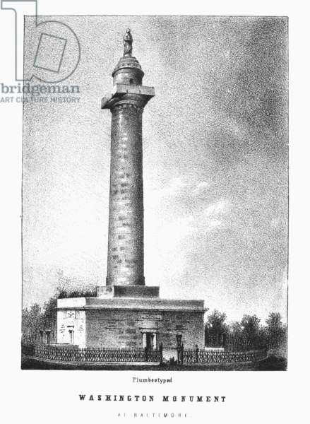 BALTIMORE: MONUMENT Washington Monument at Baltimore, Maryland. Plumbeotype, 19th century.