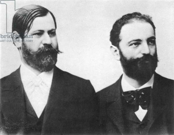 SIGMUND FREUD (1856-1939) Austrian neurologist. Freud (left) with his friend and colleague Wilhelm Fliess, in the early 1890s.
