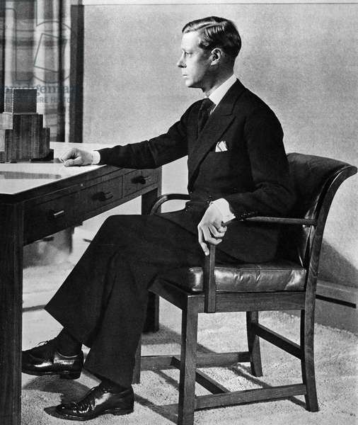 EDWARD VIII (1894-1972) King of Great Britain, 1936. King Edward broadcasts his decision to abdicate, 11 December 1936.