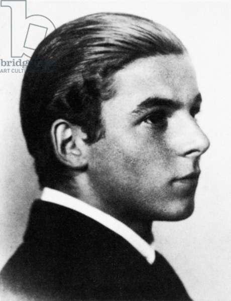 KARL ERNST KRAFFT (1900-1945). Swiss astrologer. Krafft as a youth.
