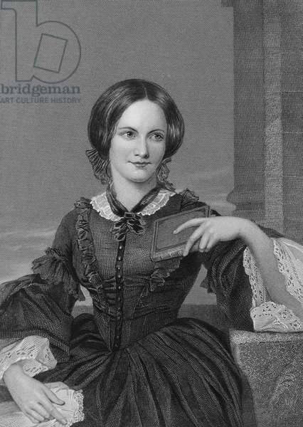 CHARLOTTE BRONTË (1816-1855). English novelist. Line and stipple engraving, 19th century, after Alonzo Chappel.