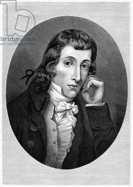 ALEXANDER WILSON (1766-1813) American (Scottish-born) ornithologist. Wood engraving, American, 1890.