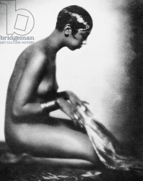JOSEPHINE BAKER (1906-1975) American dancer. Photographed at Paris, c.1929.