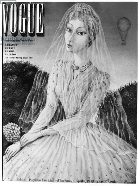 VOGUE MAGAZINE, 1940 Cover of the 1 April 1940 issue of the American edition of 'Vogue' magazine, focusing on bridal fashions (the contents of 'Vanity Fair' magazine, another Condé Nast publication, were also included).