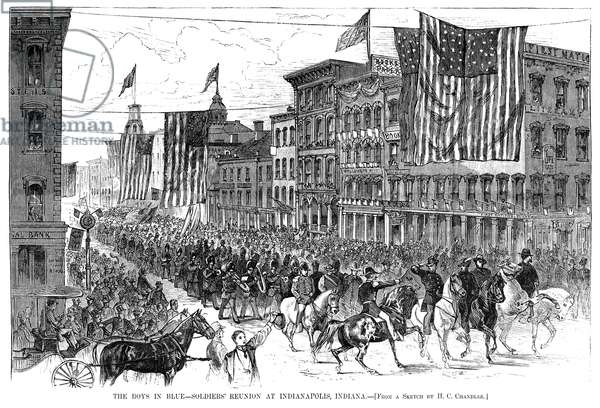 CIVIL WAR: REUNION, 1876 Reunion of Civil War Union soldiers in Indianapolis, Indiana, 20-21 September, 1876.