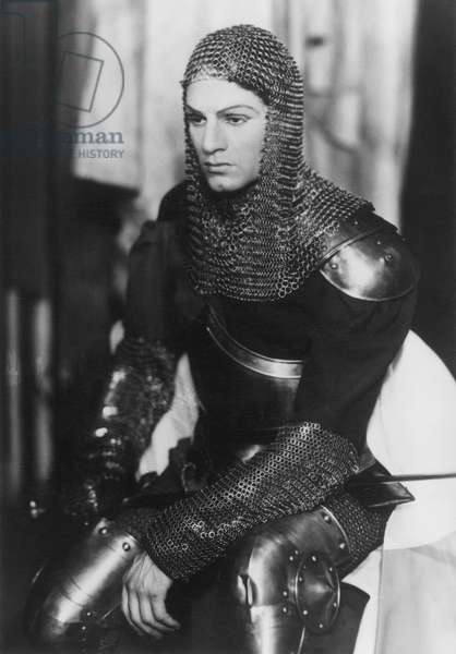 LAURENCE OLIVIER/HENRY V. Sir Laurence Olivier in the title role at the Old Vic Theatre, London, 1937.