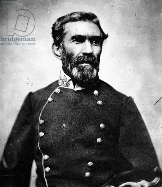 BRAXTON BRAGG (1817-1876) American army commander. Photographed during the American Civil War.