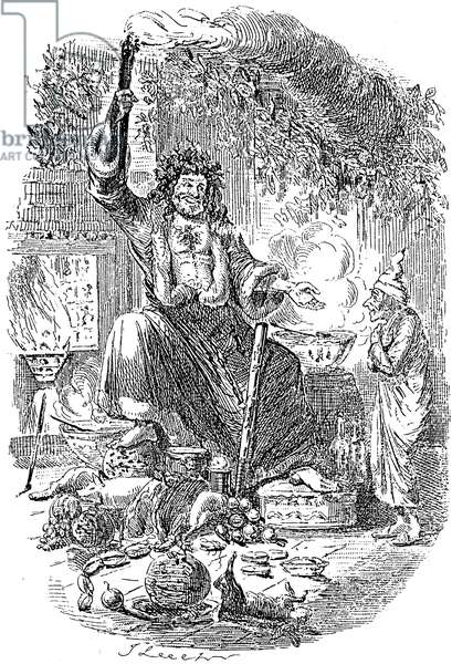 DICKENS: CHRISTMAS CAROL, 1943. 'The Second of the Three Spirits (the Ghost of Christmas Present).' Etching by John Leech from the first edition of Charles Dickens' 'A Christmas Carol,' 1843.