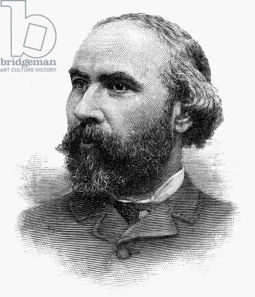 JAMES JEROME HILL (1838-1916). American railroad promoter, president of the Great Northern Railroad. Engraving, American, 1890.