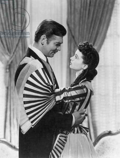 GONE WITH THE WIND, 1939 Clark Gable and Vivien Leigh.