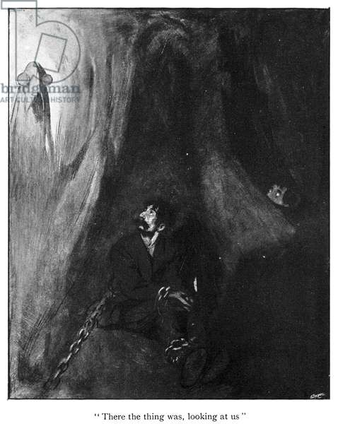 H.G. WELLS: MEN IN THE MOON Illustration from the first edition of 'The First Men in the Moon,' 1901, by H.G. Wells.