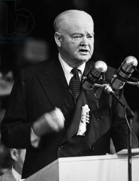 HERBERT HOOVER (1874-1964) 31st President of the United States. Hoover addressing the Republican National Convention in Philadelphia, Pennsylvania, 22 June 1948.