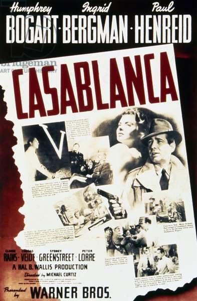 CASABLANCA, 1942 American poster for the film 'Casablanca,' 1942.