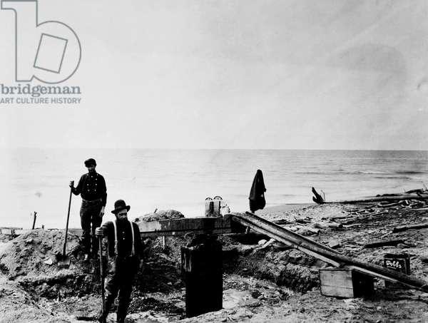 ALASKA: GOLD MINERS, c.1897 Gold prospectors in Alaska, c.1897.