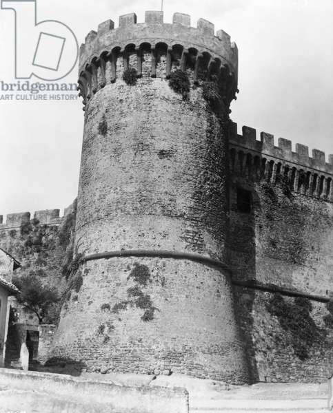 FILM STILL: CASTLE Castle at an Italian location used in the filming of the 1949 motion picture 'Black Magic,' on the life of Count Cagliostro.