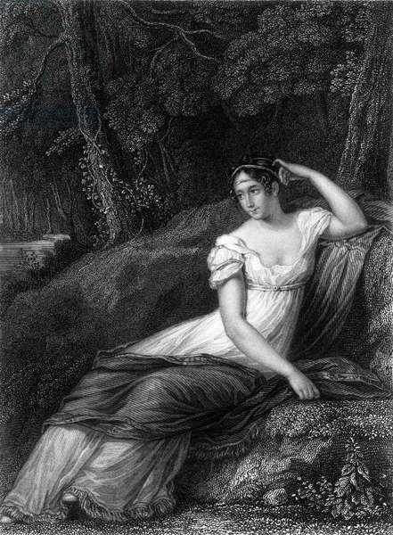 EMPRESS JOSEPHINE (1763-1814). Josephine de Beauharnais. Empress of the French, 1804-1809. Line and stipple engraving after the painting by Prud'hon.