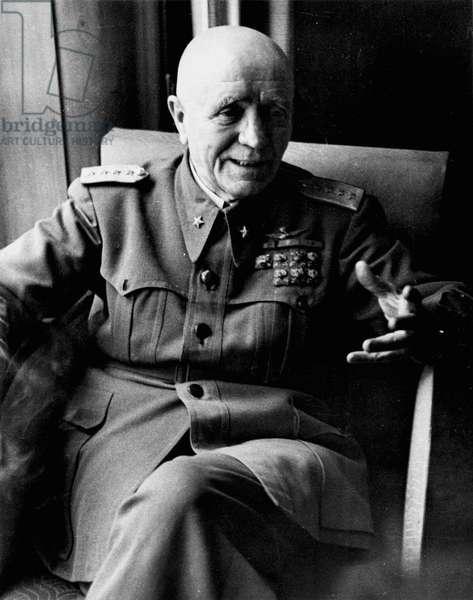 PIETRO BADOGLIO (1871-1956) Italian soldier. Photographed May 1944.