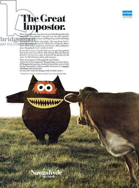 AD: FABRIC, 1967 American advertisement for Naugahyde Vinyl Fabric. Photograph, 1967.