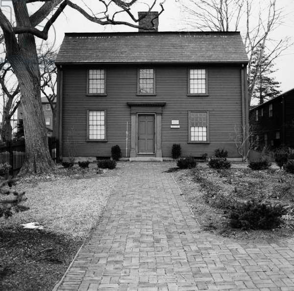 HAWTHORNE: BIRTHPLACE The house at Salem, Massachusetts, in which Nathaniel Hawthorne was born on 4 July 1804. Photograph, mid 20th century.