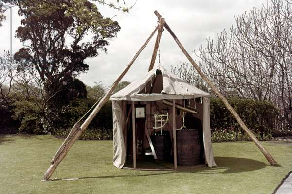 COOK: ASTRONOMY TENT Astronomical observatory tent used by Captain James Cook.