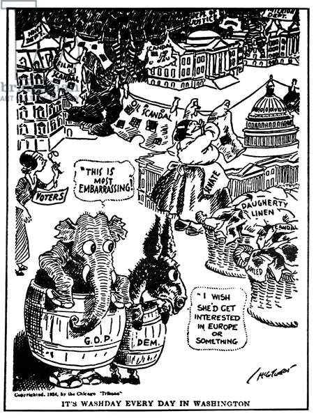 TEAPOT DOME SCANDAL A 1924 American newspaper cartoon on the Teapot Dome investigations.