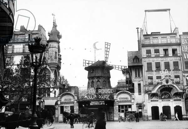PARIS: MOULIN ROUGE, 1900 Le Moulin Rouge, the famous cabaret on the Boulevard de Clichy in the Montmartre district of Paris, France, Photograph, 1900.