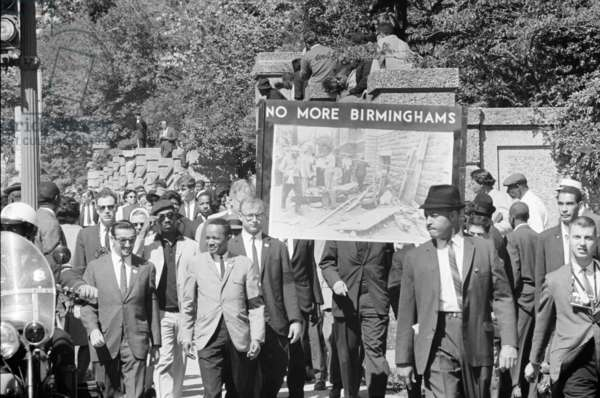CIVIL RIGHTS MARCH, 1963 March in Washington, D.C., conducted by the Congress of Racial Equality (CORE), 22 September 1963, in memory of the young African Americans killed in the bombing of the 16th Street Baptist Church in Birmingham, Alabama. Photograph by Thomas O'Halloran.