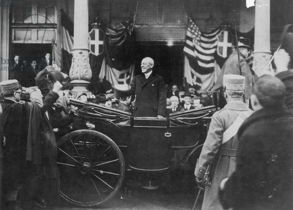 WOODROW WILSON (1856-1924) 28th President of the United States. Photographed in Paris, France, probably in December 1918.