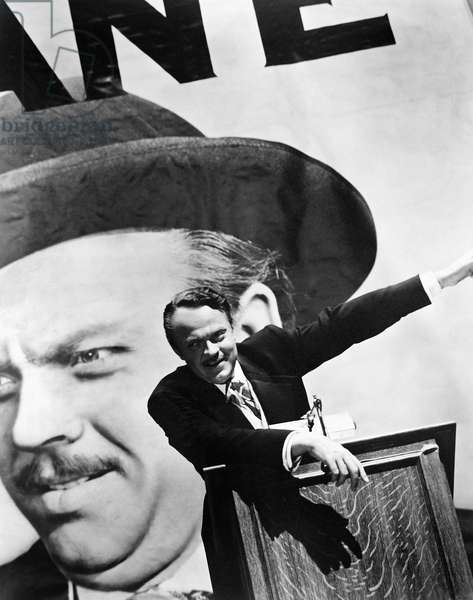 CITIZEN KANE. 1941 Orson Welles as Charles Foster Kane in 'Citizen Kane,' 1941, which Welles also directed.