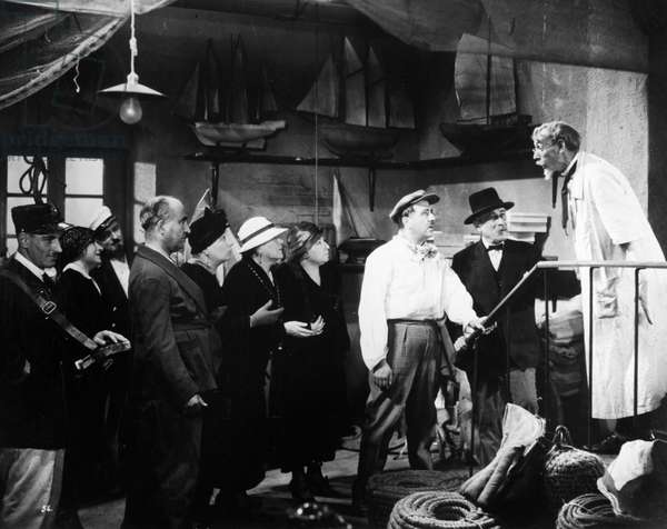 FILM: FANNY, 1932 Raimu, in white shirt, as César in a scene from the film 'Fanny,' 1932, directed by Marc Allégret after Marcel Pagnol's play of the same name.