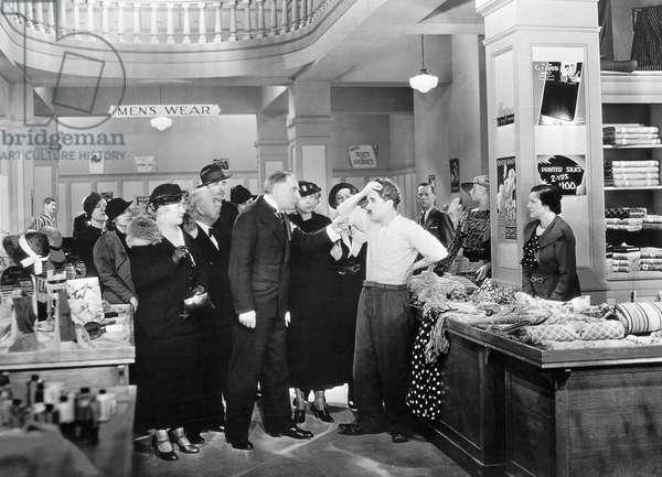 CHAPLIN: MODERN TIMES, 1936 Charlie Chaplin in a scene from the film, 'Modern Times,' 1936.